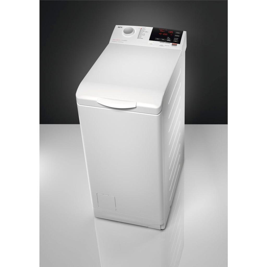 AEG Waschmaschine Toplader »L6TB26TL«, 6000, L6TB26TL, 6 kg, 1200 U/min, ProSense - Mengenautomatik