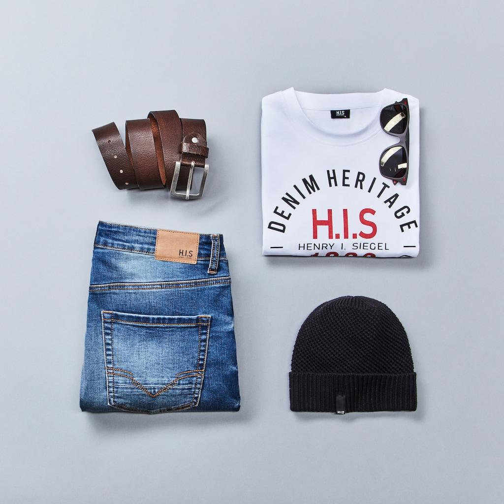 H.I.S Strickmütze, mit kleinem Flag-Label