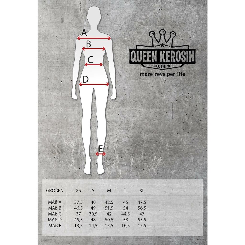 QueenKerosin Overall »Speedway«, kurzarm mit Stickerei