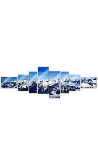 Wall-Art Mehrteilige Bilder »XXL Alpen Panorama (8-teilig)«, (Set, 8 St.) kaufen