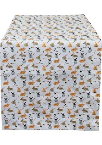 HOSSNER - HOMECOLLECTION Tischläufer »32657 Rabbits«, (1 St.) kaufen
