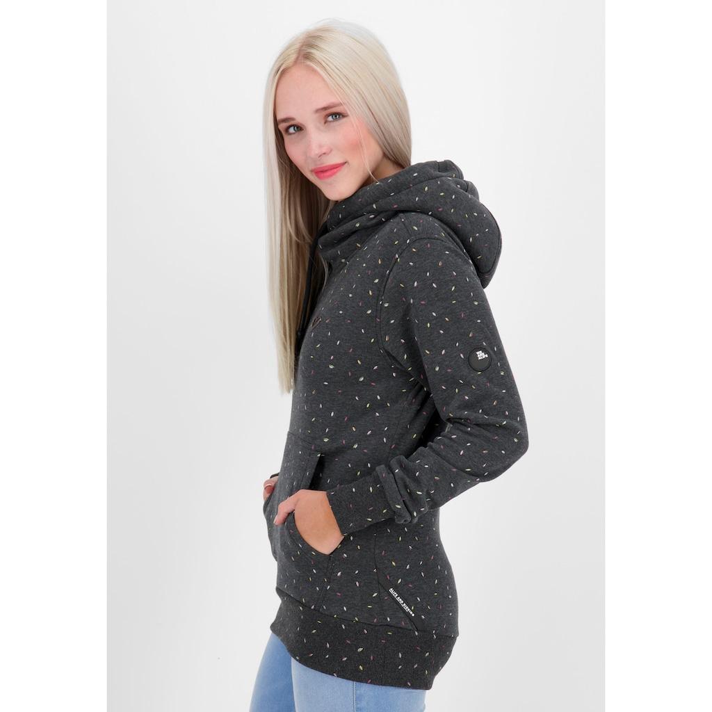 Alife & Kickin Sweatshirt »SarahAK«, Longsweater mit Kapuze& Kontrast-Details