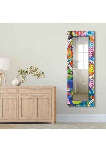Artland Wandspiegel »Buntes Paisley«, gerahmter Ganzkörperspiegel mit Motivrahmen,... kaufen