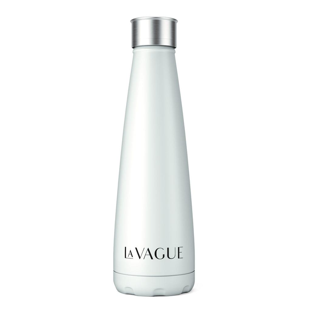 LA VAGUE Trinkflasche »GRAVITY«, (2 tlg.), doppelwandig aus Edelstahl mit Schraubverschluss