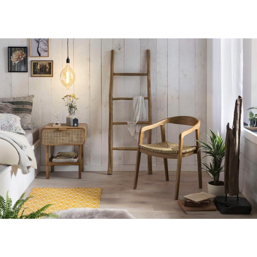 SIT Nachtkonsole, mit Wiener Geflecht, Nachttisch in zierlicher Optik
