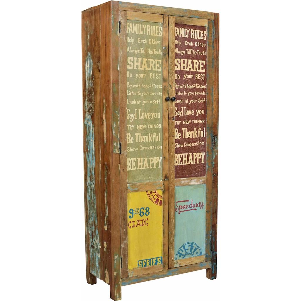SIT Stauraumschrank »Speedway«, aus recyceltem Altholz, Breite 80 cm, Shabby Chic, Vintage