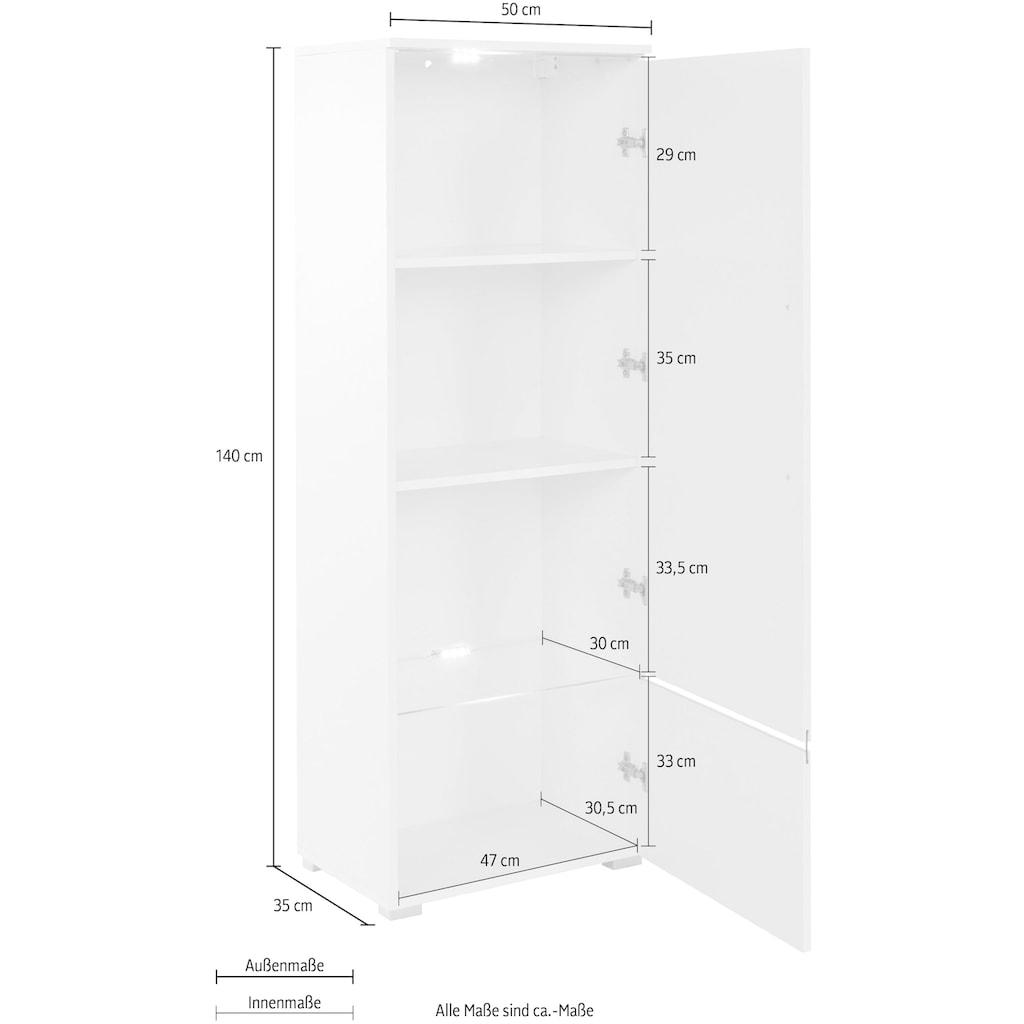Helvetia Vitrine »Amber«, Höhe 140 cm, hängend und stehend montierbar