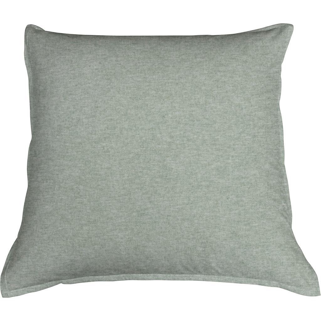 Schlafgut Kissenbezug »Melange Uni«, (1 St.), passend zu Spannbettlaken und Bettwäsche