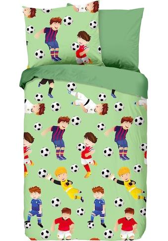 good morning Kinderbettwäsche »Go«, mit Fußball-Motiv kaufen
