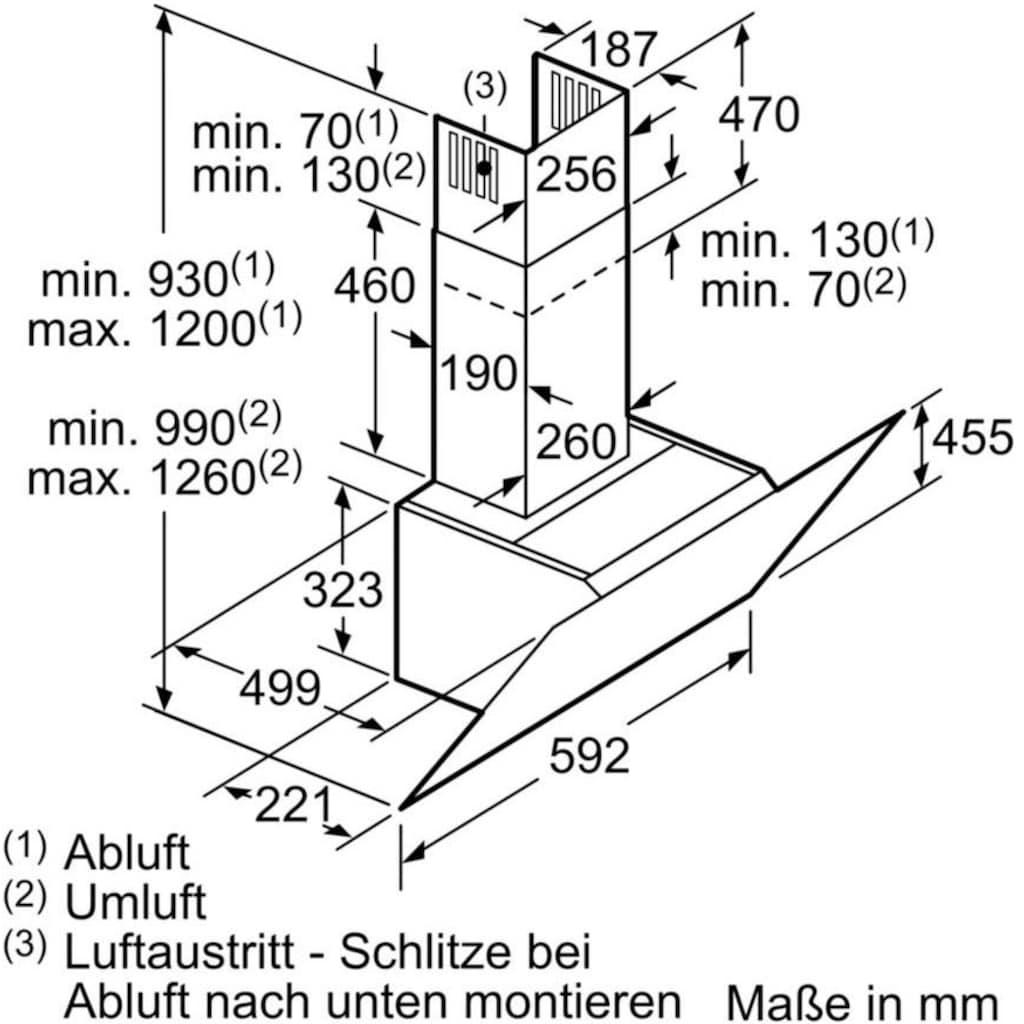 SIEMENS Kopffreihaube »LC68KPP60«, Serie iQ500