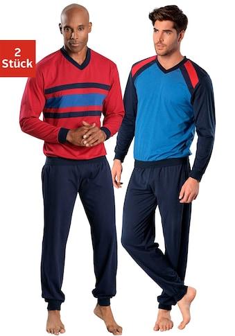 le jogger® Pyjama, (2 Stück), in langer Form kaufen