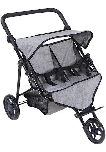 Knorrtoys® Puppenwagen »Duo - Jeans Grey«, für Zwillinge kaufen