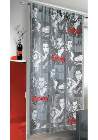 WILLKOMMEN ZUHAUSE by ALBANI GROUP Vorhang »Groovy«, Schal mit Tunneldurchzug kaufen
