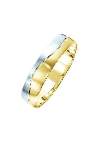 Firetti Trauring mit Gravur »matt, Diamantschnitt in Wellenform, bicolor, 5,0 mm... kaufen