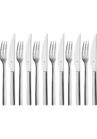 WMF Steakbesteck »Nuova«, (Set, 12 tlg.), Solide Monobloc Steakmesser kaufen