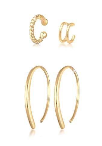 Elli Ohrring-Set »Basic Set Creolen Earcuff Blogger Trend 925 Silber« kaufen
