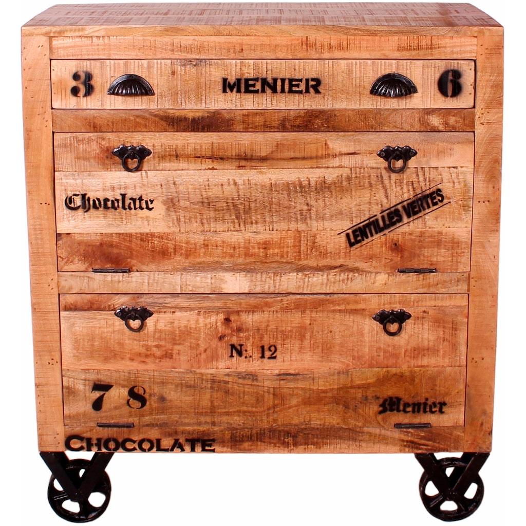 SIT Schuhschrank »Rustic«, im Factory Design, Breite 82 cm, Shabby Chic, Vintage