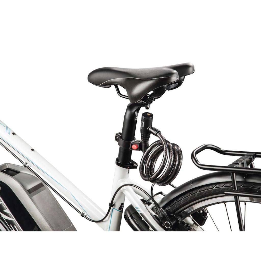 Hama Fahrrad-Spiralkabelschloss, 120 cm, Schwarz
