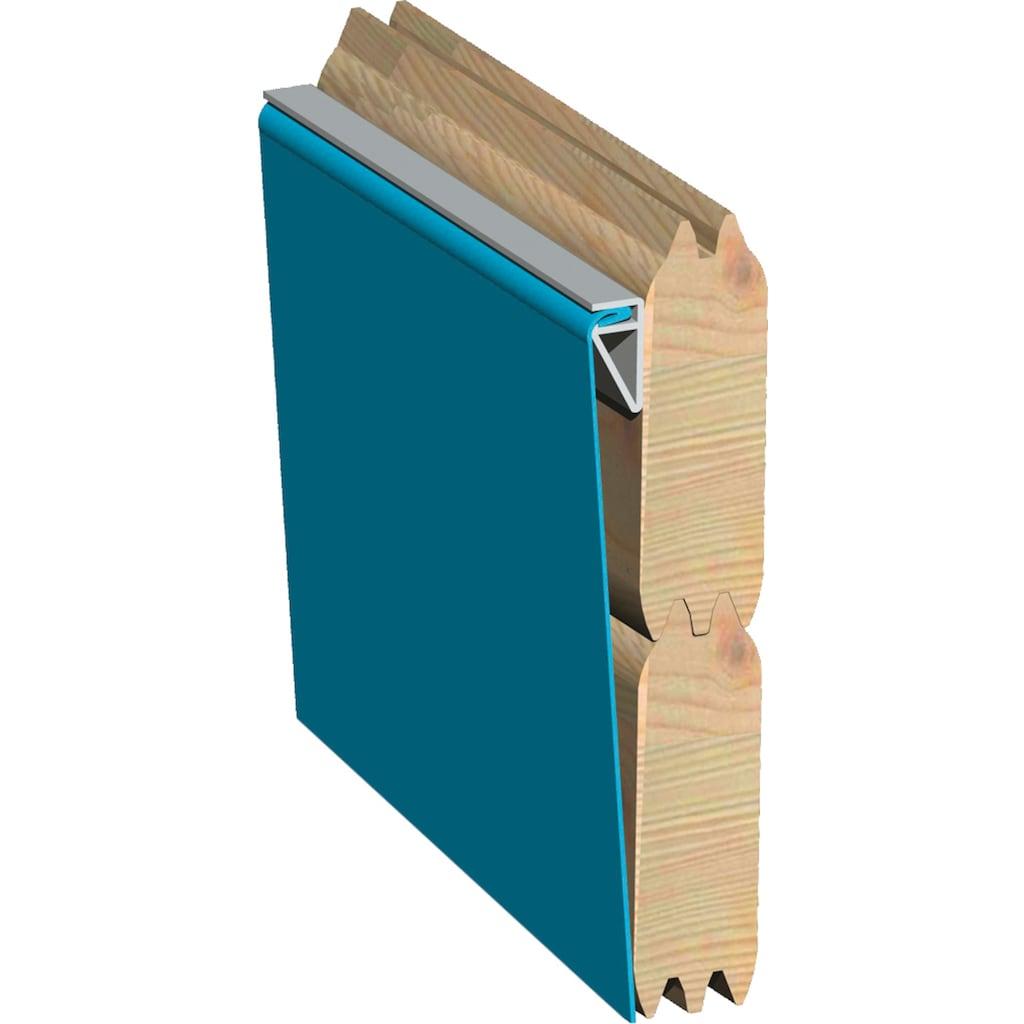 Karibu Rechteckpool »2«, (Set, 4 tlg.), BxLxH: 353x590x124 cm, mit Sonnenterrasse