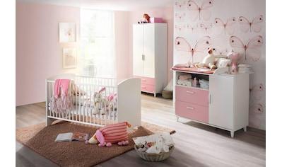 Babyzimmer-Komplettset »Nizza«, (Set, 3 tlg.), Bett + Wickelkommode + 2 trg. Schrank kaufen