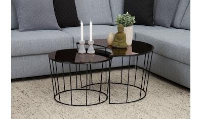 andas Couchtisch »Susan«, mit Tischplatte aus bronzefarbigem Spiegelglas und Metall... kaufen