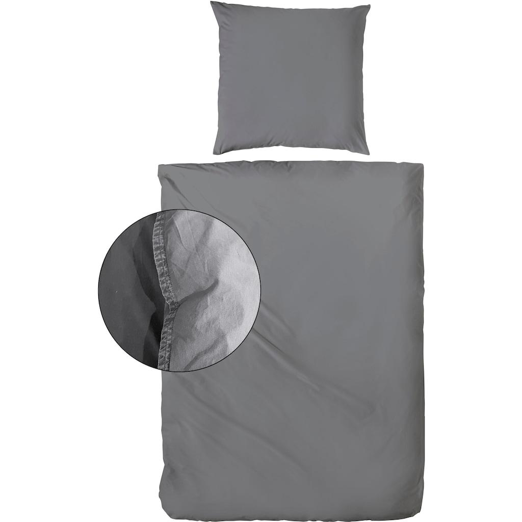 Primera Bettwäsche »Stone washed«, mit feinem Knitterlook
