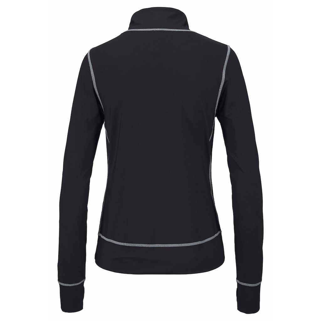 LASCANA ACTIVE Trainingsjacke »Black Marble«, mit Kontrastnähten