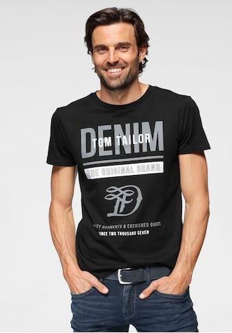 TOM TAILOR Denim T-Shirt, mit großem Logofrontprint kaufen