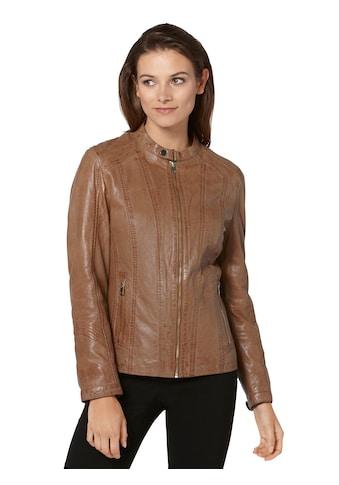 Leder - Jacke in leichter Used - Optik kaufen