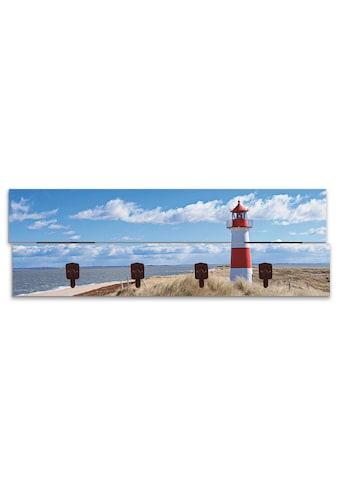 Artland Garderobenpaneel »Leuchtturm Sylt«, platzsparende Wandgarderobe aus Holz mit 4... kaufen