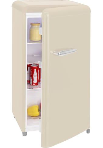 exquisit Table Top Kühlschrank »RKS 100-16 RVA++«, RKS 100-16 RVA++ MW, 90,5 cm hoch, 48 cm breit, Retro kaufen