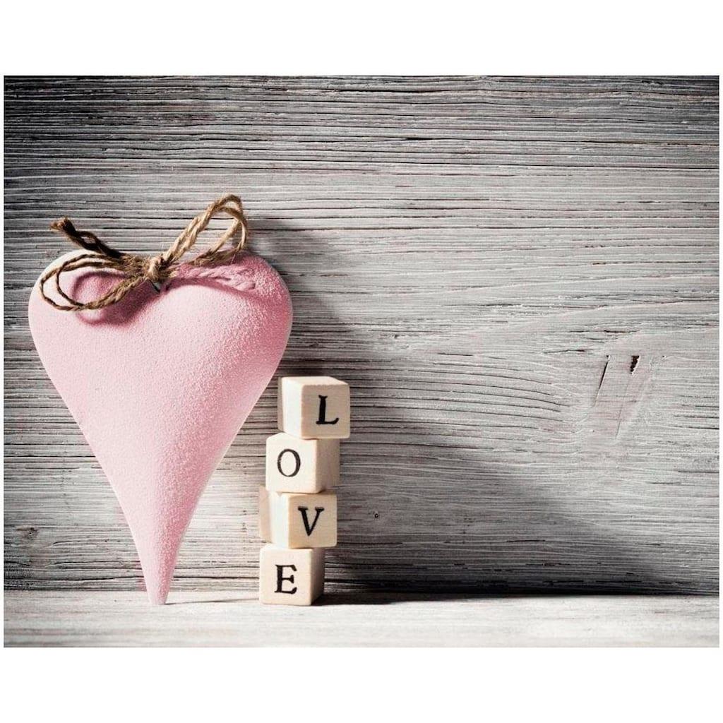 Home affaire Leinwandbild »Heart Love Pink«, 50/40 cm