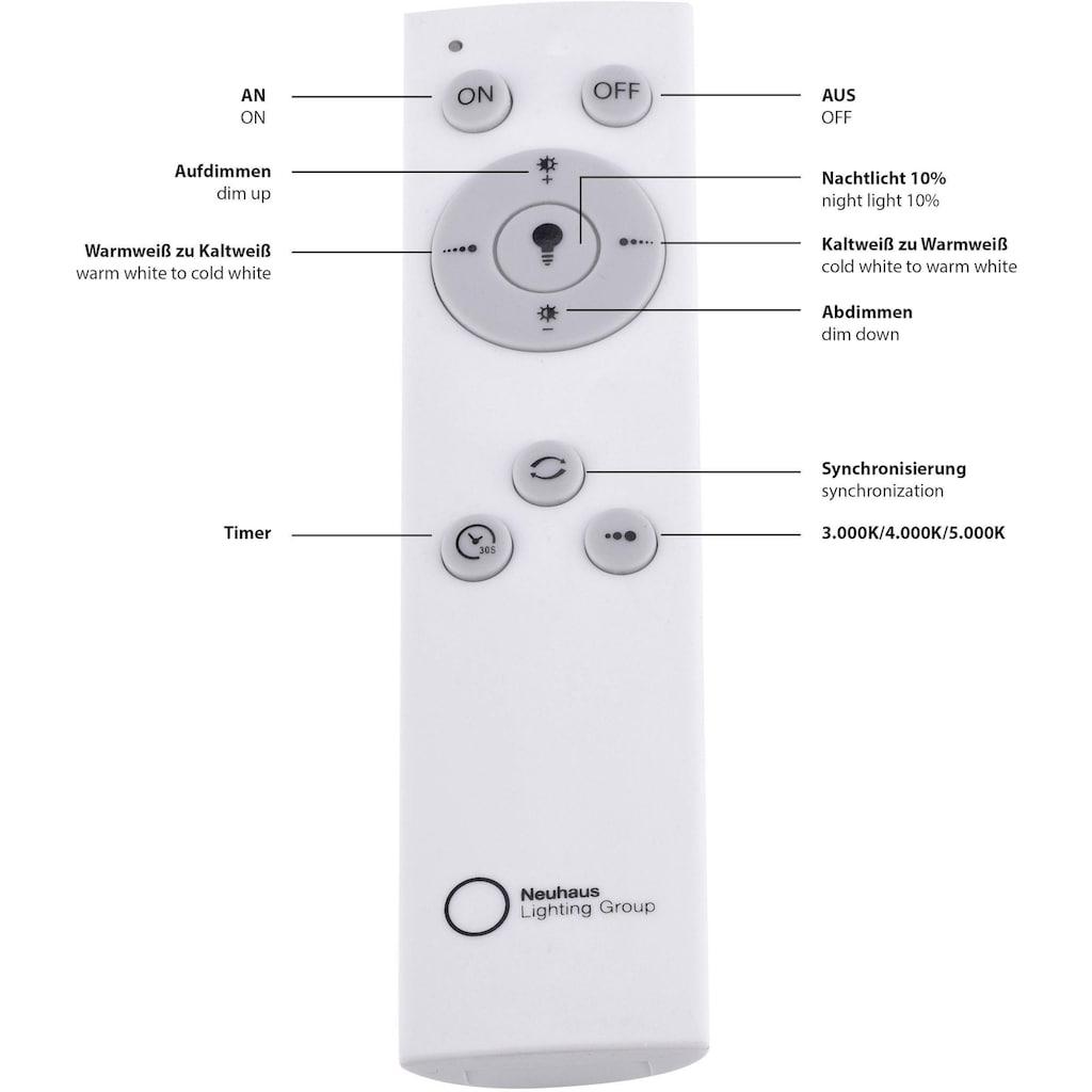 Leuchten Direkt Deckenleuchte »MEDINA«, LED-Board, Warmweiß-Neutralweiß-Tageslichtweiß, CCT - Farbtemperaturregelung (verstellbar von 3000-5000K)|Dimmbar über Fernbedienung|Serienschalter|Memoryfunktion|Sternenhimmeloptik, Ø 60 cm