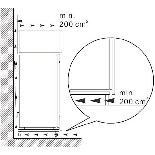 Hanseatic Einbaukühlschrank, 88 cm hoch, 54 cm breit