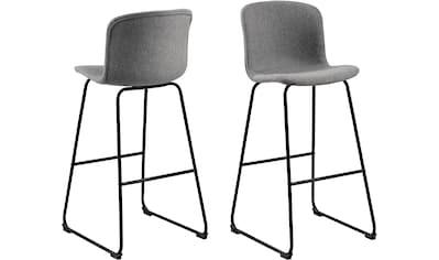 andas Barhocker »Sigwald«, mit schwarzen Kufen Metallbeinen, Sitzhöhe 75 cm kaufen