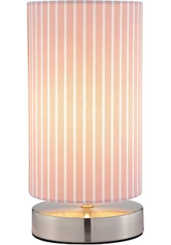 Lüttenhütt Tischleuchte »Striepe«, E14, Tischlampe mit Streifen - Stoffschirm Ø 12 cm,... kaufen