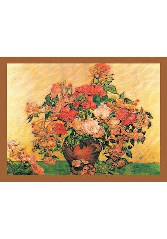 DELAVITA Bild mit Rahmen »VAN GOGH / Vase mit Rosen«, (1 St.) kaufen