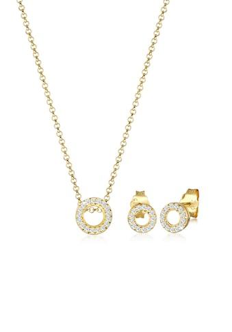 Diamore Schmuckset »Kette Ohrstecker Set Diamant (0.43 ct.) 375 Gelbgold« kaufen