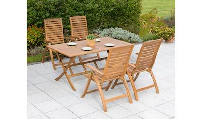 MERXX Gartenmöbelset »Paraiba«, 5 - tlg., 4 Klappsessel, Tisch 160x90 cm, Akazie, klappbar kaufen