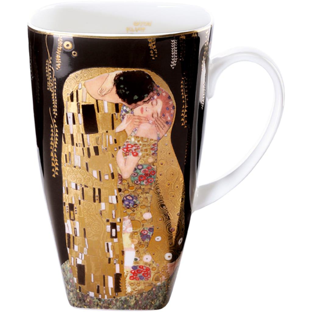 Goebel Becher »Der Kuss«, von Gustav Klimt, schwarz