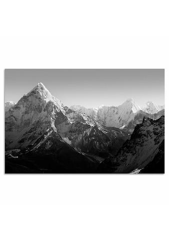 Home affaire Leinwandbild »Berge«, 120/80 cm kaufen