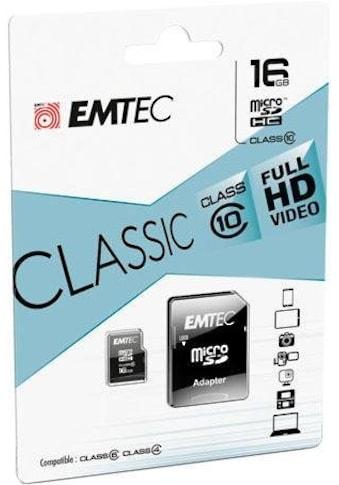 EMTEC Speicherkarte »microSD Class10 Classic«, (Class 10 30 MB/s Lesegeschwindigkeit) kaufen
