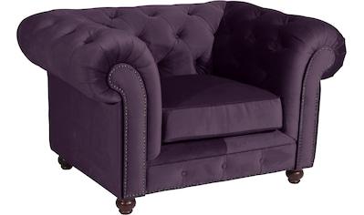 Max Winzer® Chesterfield-Sessel »Old England«, mit edler Knopfheftung kaufen