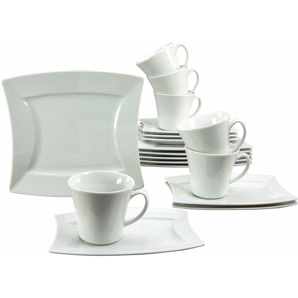 CreaTable Kaffeeservice »SAILING«, (Set, 18 tlg.), Mikrowellengeeignet