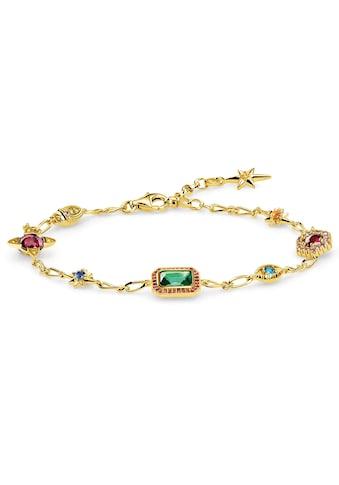THOMAS SABO Armband »Glücksbringer gold, A1914-973-7-L19v«, mit synth. Korund und... kaufen