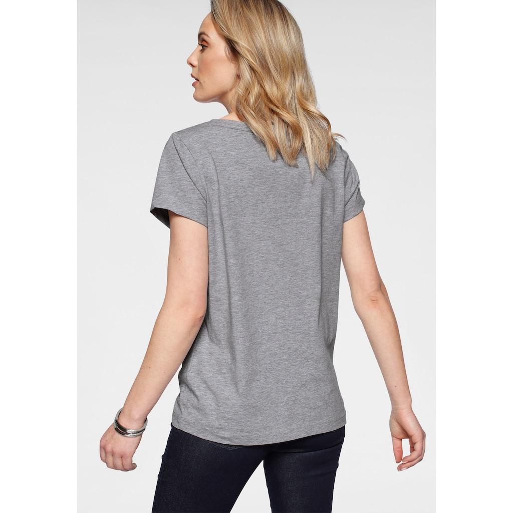 H.I.S T-Shirt, mit Reflektor-Logo-Print