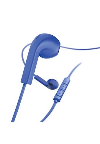 Hama Kopfhörer, Earbuds, Mikrofon, Flachbandkabel, Blau kaufen