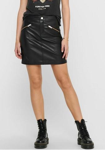 Only Lederimitatrock »ONLHEIDI«, mit Zipper Detail kaufen