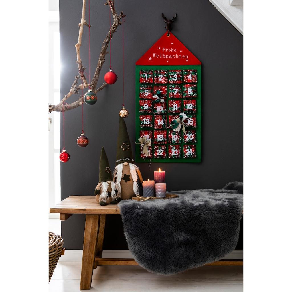 my home befüllbarer Adventskalender »Haus«, zum Hängen aus Filz, 46 x 92 cm