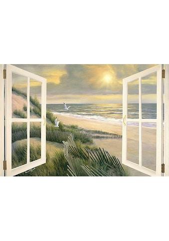 Home affaire Leinwandbild »D. ROMANELLO / Morgentliche Medidation am Fenster«, (1 St.) kaufen